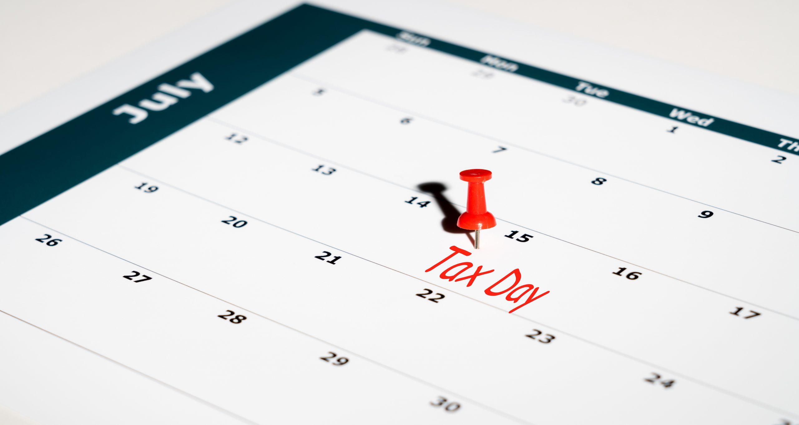 July 15th, 2020 Tax Filing Deadline
